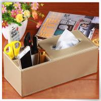 tissue box with holder slots