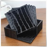 crocodile pu leather tea cup coaster