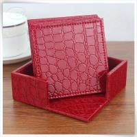 croco leather square in red