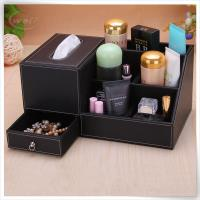black cosmetic box with tissue box