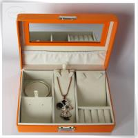 Orange jewelry storage box