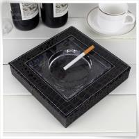 Decoration leather ashtray