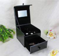 Jewelry box with standing mirror