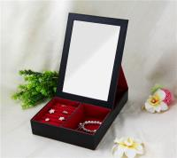 Standing mirror jewelry box