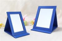 Blue cosmetic mirror