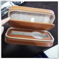 Brown pu leather watch strap case