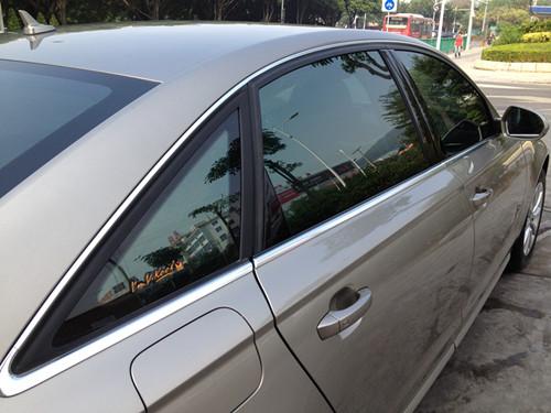 奥迪A6L全车V70与V40 泉州汽车贴膜 泉州汽车威固隔热膜|汽车贴膜案例-泉州市云泰汽车美容装璜部