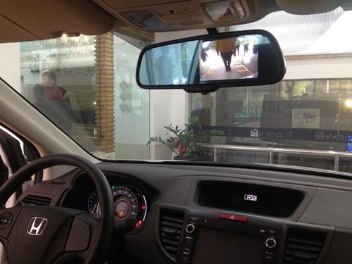 crv后视镜升级实景导航行车记录仪 泉州仙人指路后视镜