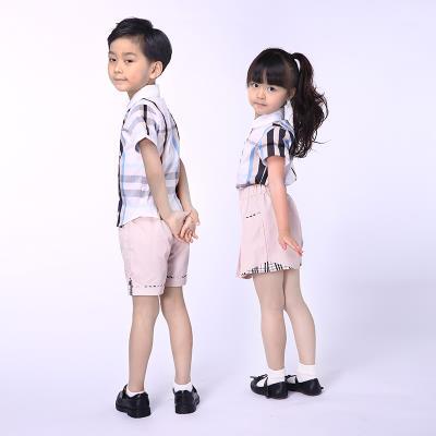 校园博士专业校服定做幼儿园园服英伦格子衬衫校服