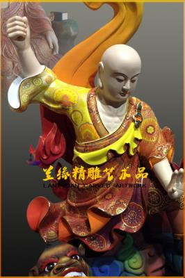 地藏王菩萨 -木雕彩绘