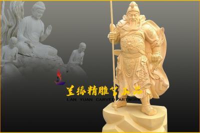 木雕佛像 (关公)